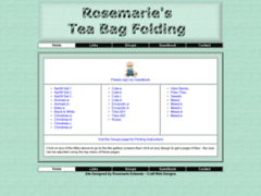 Rosemaries Tea Bag Folding Site