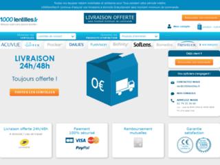 Détails : 1000lentilles.fr: Achat de lentilles de contact en ligne
