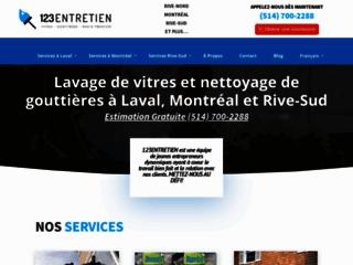 Détails : 123Entretien - Entretien Exterieur - Lavage Vitres et Nettoyage Gouttieres dans le Grand-Montreal
