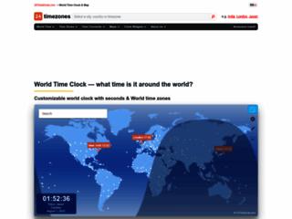 Orologio mondiale - Ora esatta - Orologio online - Mappa oraria mondiale