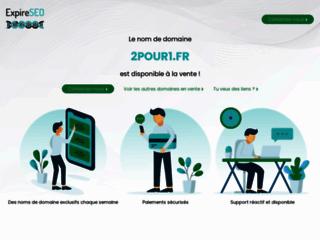 Capture du site http://www.2pour1.fr/