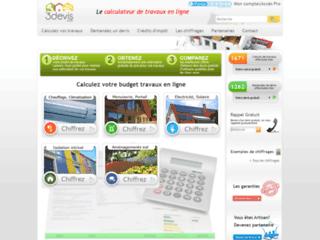 Capture du site http://www.3devis.com/