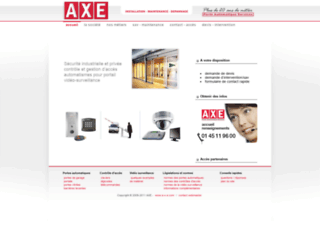Capture du site http://www.a-x-e.com/