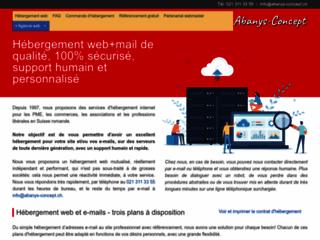 Détails : Abanys-Concept, création et hébergement de sites