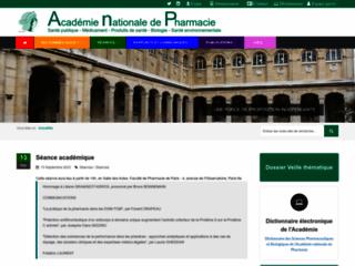 Académie nationale de pharmacie sur http://www.acadpharm.org