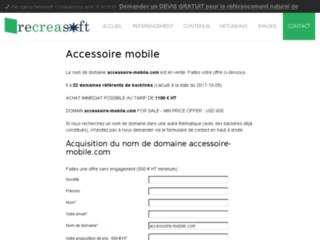 Capture du site http://www.accessoire-mobile.com/