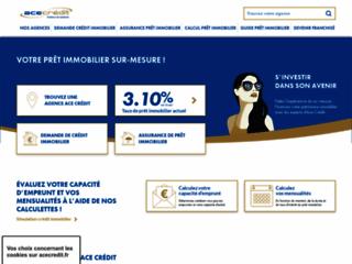 Capture du site http://www.acecredit.fr