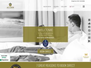 Capture du site http://www.acorn-hotel.com