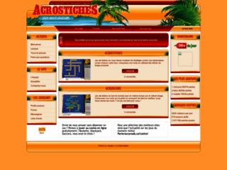 Capture du site http://www.acrostiches.com