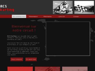 Capture du site http://www.acskarting.com/