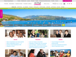 Capture du site http://www.activa-langues.com