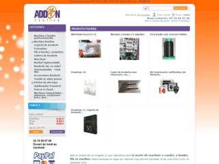 Capture du site http://addontextile.fr/