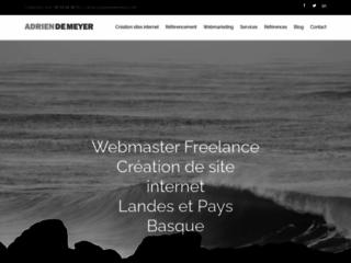 Adrien De Meyer Webmaster Freelance sur Bayonne