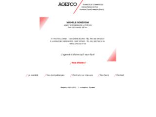 Capture du site http://www.agefco.ch