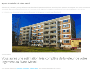 Agence Immobiliere le blanc mesnil.com