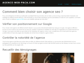 Agence Web Paca : Agence de référencement naturel et payant