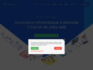 Capture du site http://www.agneaux-informatique.fr