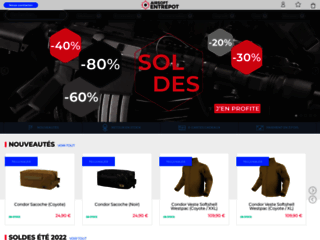 Capture du site http://www.airsoft-entrepot.fr/