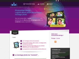 Capture du site http://www.album-photo-artist.com/