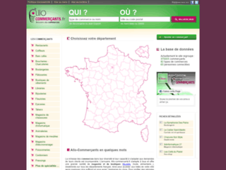 Capture du site http://www.allo-commercants.fr