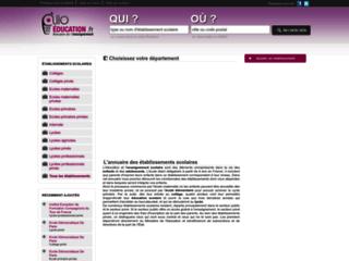Capture du site http://www.allo-education.fr