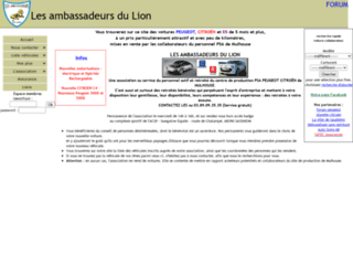 les ambassadeurs du lion v hicules collaborateurs peugeot et citro n. Black Bedroom Furniture Sets. Home Design Ideas