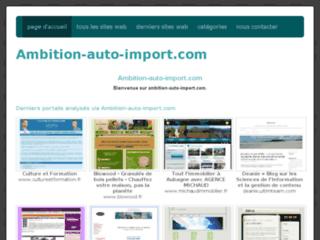 Ambition Auto Import : importation d'Allemagne d'automobile