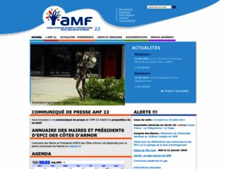 Capture du site http://www.amf22.asso.fr/