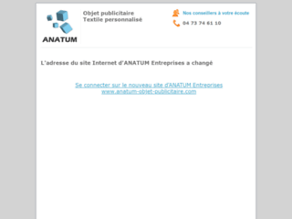Capture du site http://www.anatum.com/