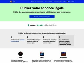 Détails : Publier une annonce légale sur ALF