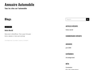 Annuaire de sites automobiles