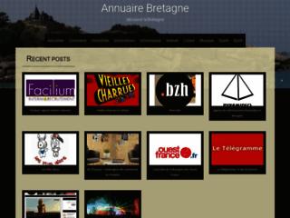 Annuaire geographique de la Bretagne - Moteur de Recherche et classement de sites par villes bretonn