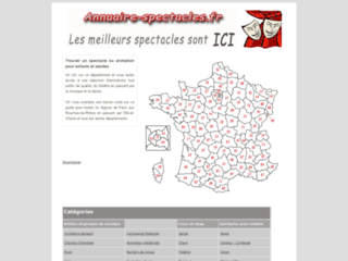 ANNUAIRE SPECTACLES FRANCE
