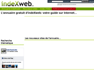 Annuaire indexweb .info