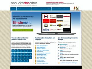 Annuairedesoffres.com : promotions pour le Web