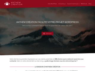 Anthem Création - Conception et intégration de solutions WordPress sur mesure