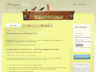 Antique Pick pour marchands, antiquaires et collectionneurs