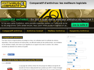 Capture du site http://www.antiviruscomparatif.fr