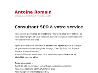 Antoine Romain : Consultant SEO à Montbéliard