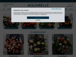 Capture du site http://www.aquarelle.com/