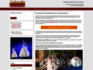 Aperçu du site Artémia Artistique
