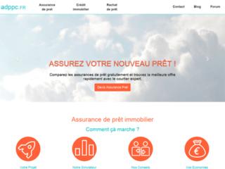 Capture du site http://www.assurance-de-pret-pas-cher.com