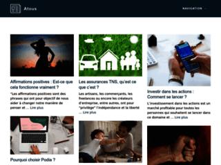 Aperçu du site Portail Atous
