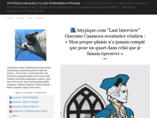 Le site des interviews posthumes
