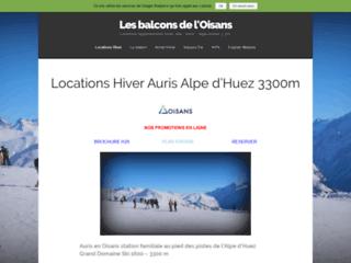 Location ski station familiale auris en oisans domaine alpe d'huez - rã©sidences balcons de l'oisans
