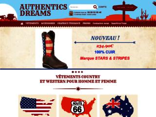 Capture du site http://www.authentics-dreams.com