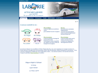 Capture du site http://www.autocars-laborie.fr