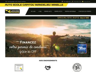 www.autoecolecapitoumandelieu.com