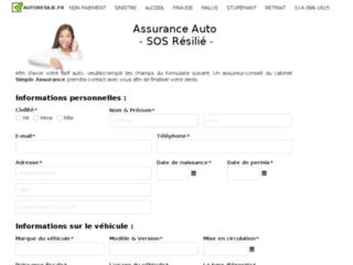 Aperçu du site Auto Résilié