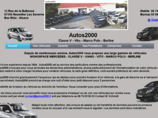 Autos 2000 : spécialiste de monospace Mercedes